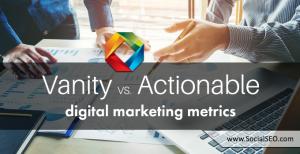 vanity vs. actionable metrics